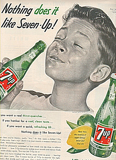 7 Up Family Drink Ad 1955