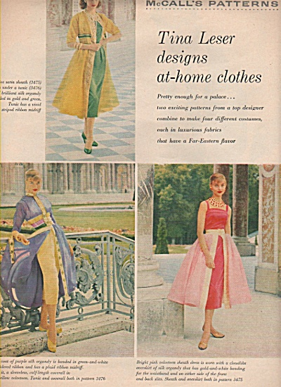 TINA LESER  designs at home clothes  1955 (Image1)