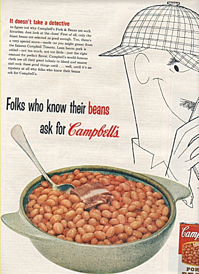 Campbell's Pork and beans ad 1955 (Image1)
