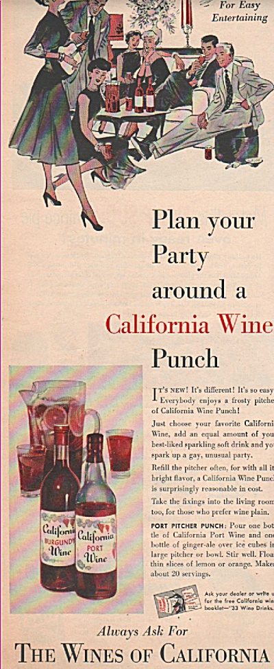 The Wines Of California Ad 1955
