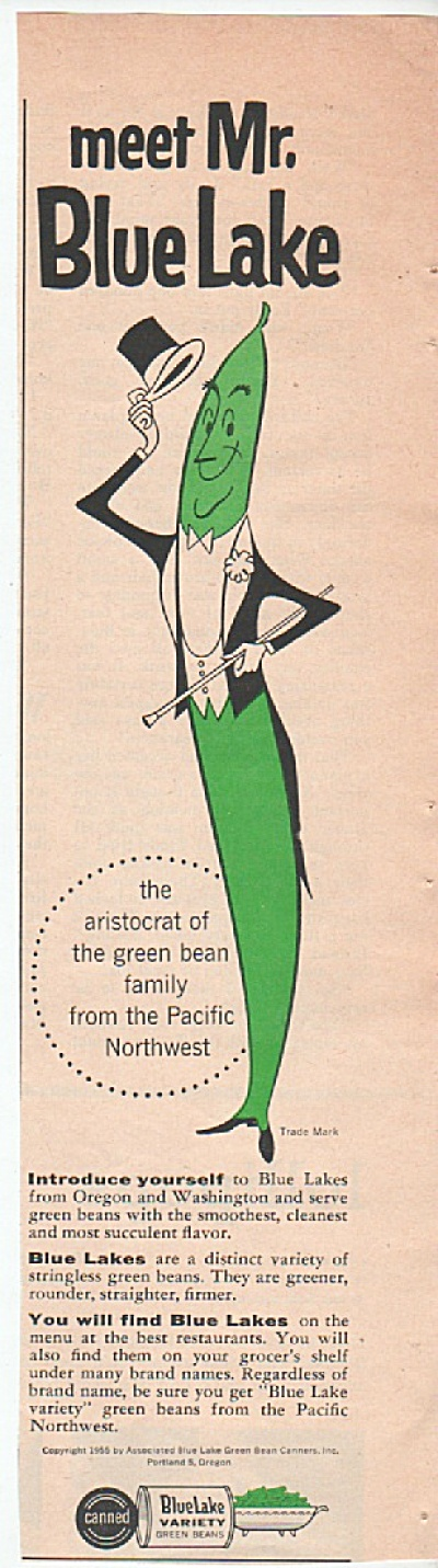 Blue Lake Variety green beans ad 1955 (Image1)