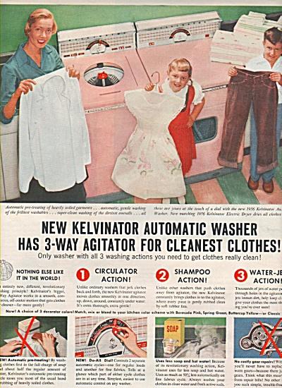 Kelvinator automatic washer ad 1955 (Image1)