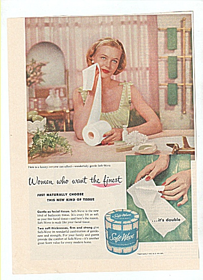 Soft Weve tissues ad 1955 (Image1)