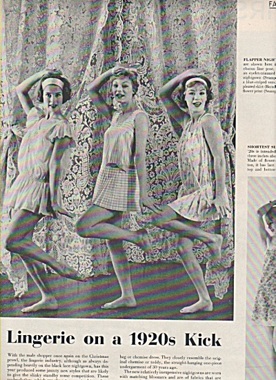 Lingerie on a 1920s kick- Model Spread  1957 (Image1)