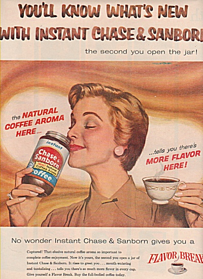 Instant Chase & Sanborn coffee ad 1957 WHOOSH (Image1)