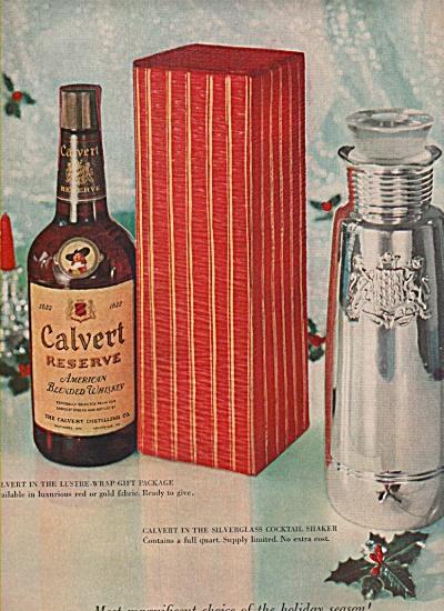 Calvert reserve whiskey ad 1957 (Image1)