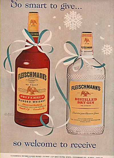 Fleischmann's Blended Whiskey Ad 1957