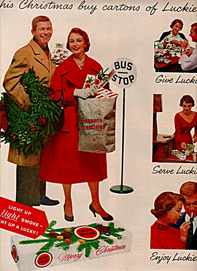 Lucky Strike cigarettes ad 1957 (Image1)