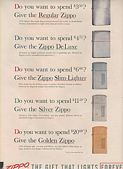 Zippo lighter ad 1957 (Image1)