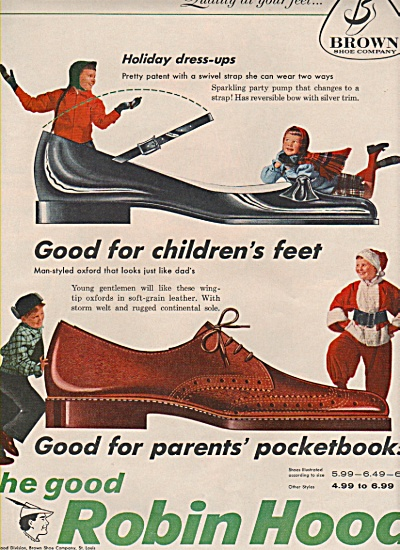 Robin Hood shoes - Buster Brown - ad 1957 (Image1)