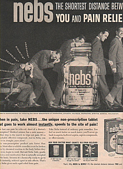 nebs pain reliever ad 1957 (Image1)
