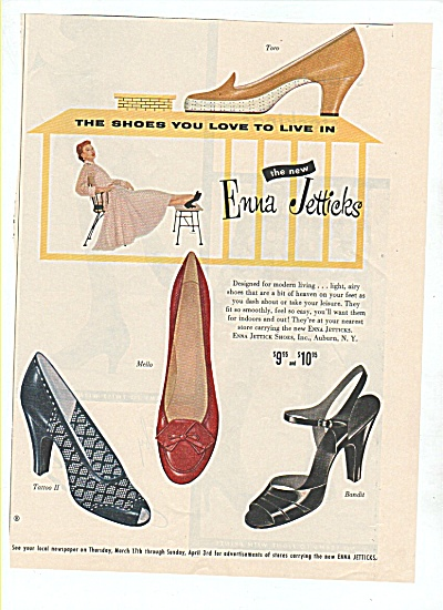 Enna Jetticks Shoes Ad 1955