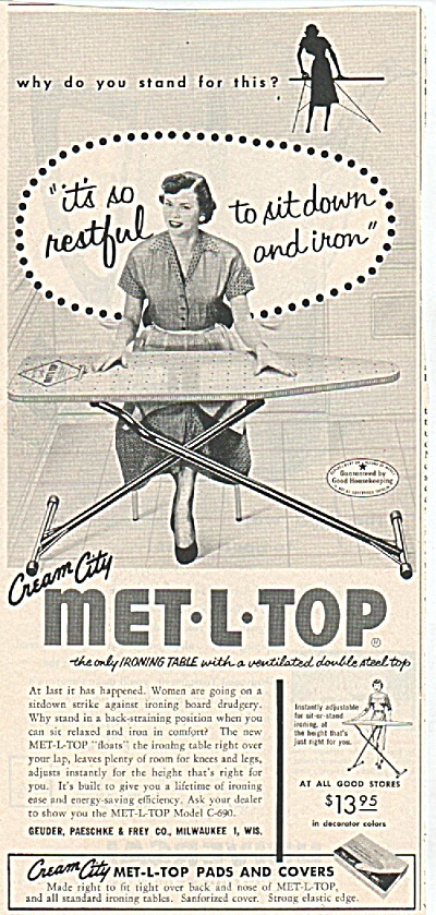 Met-L-top ironing table ad 1955 (Image1)