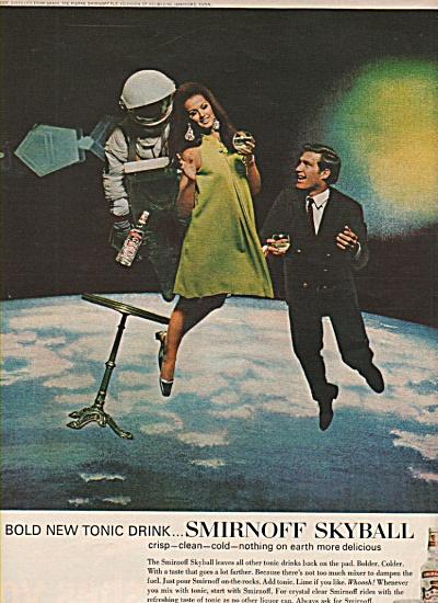 1967 Smirnoff Vodka Astronaut Space Ad VERONICA HAMEL (Image1)