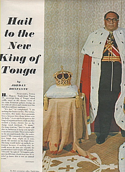 Hail to the new KING OF TONGA  -1967 (Image1)