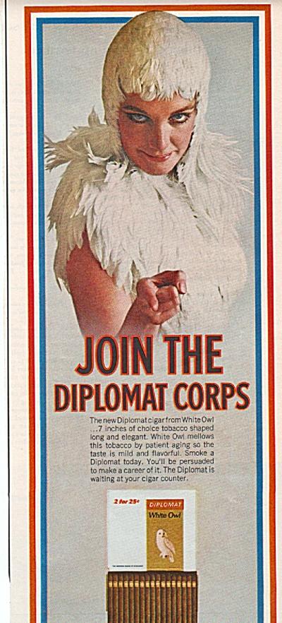 White owl diplomat cigars ad 1967 (Image1)