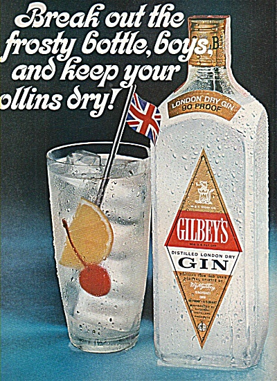 Gilbey's distilled london dry Gin ad 1967 (Image1)