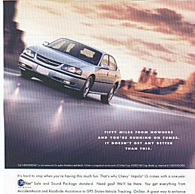 Chevrolet Impala ad   - 2002 (Image1)