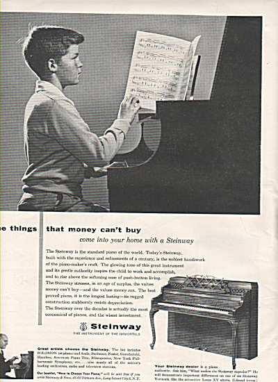 Steinway Piano Ad 1956