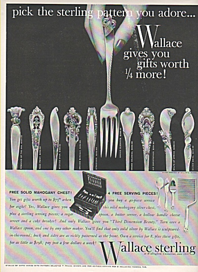 Wallace Sterling Ad 1956