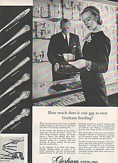 Gorham Sterling ad 1956 (Image1)