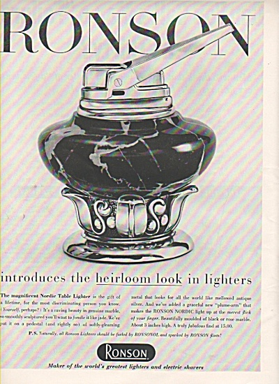 Ronson lighters ad 1956 (Image1)
