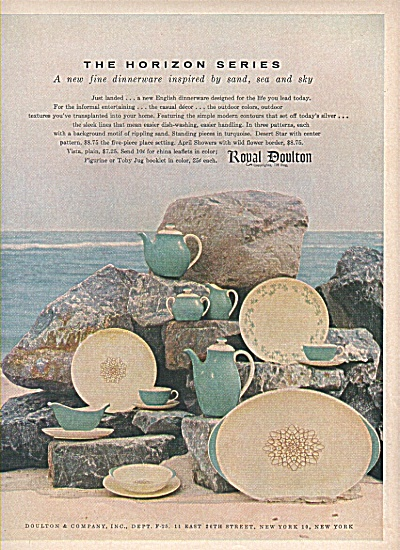 Royal Doulton Dishware Ad 1956