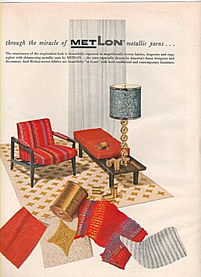 Met Lon metallic yarns ad 1956 (Image1)