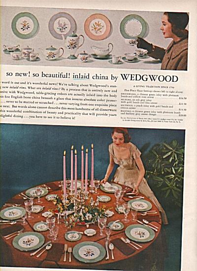 Wedgwood dishware ad 1956 (Image1)