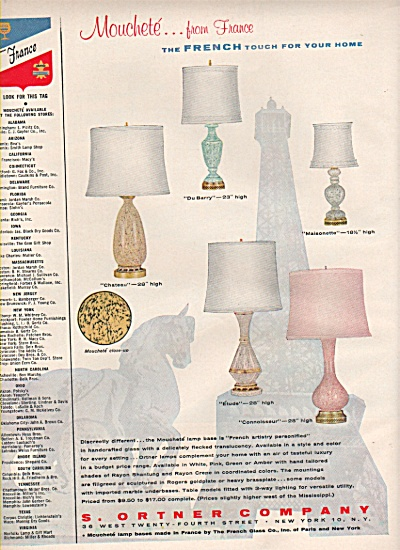 S. Ortner company  lamp bases ad 1956 (Image1)