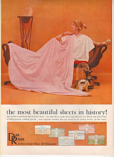 Dan River sheets & pillowcases ad 1956 (Image1)