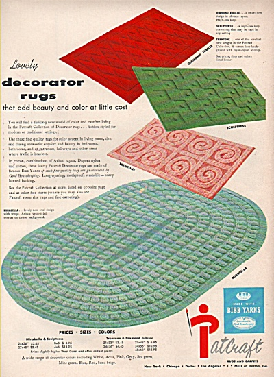 Patcraft rugs and carpets ad 1956 (Image1)