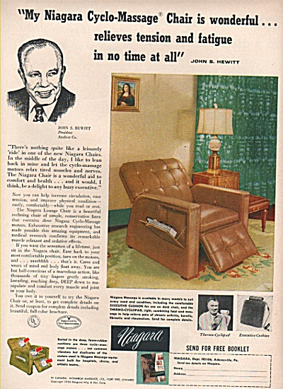 Niagara cycle massage chair ad 1956 (Image1)