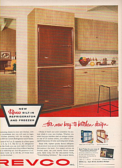 Revco bilt in refrigerator and freezer ad 1956 (Image1)