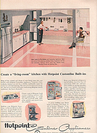 Hotpoint customline built ins ad 1956 (Image1)