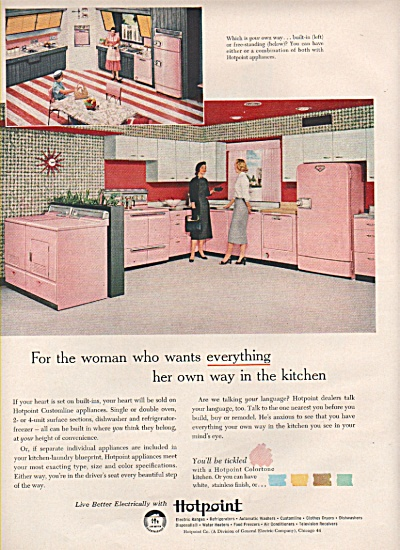 Hotpoint  kitchen appliances ad 1956 (Image1)
