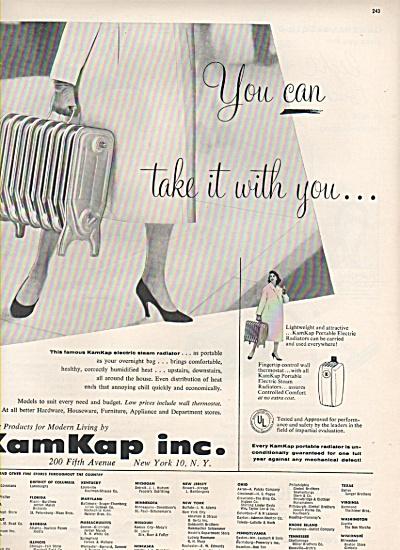 KamKap Inc. ad 1956 (Image1)
