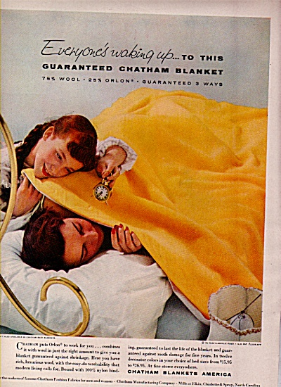 Chatham blankets America ad 1956 (Image1)