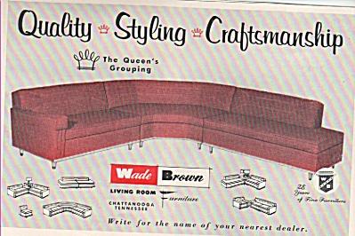 Wade Brown living room furniture  ad 1956 (Image1)