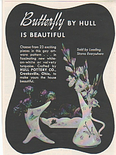 Butterfly By Hull (Pottery) Ad 1956