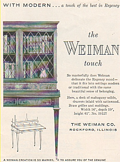 The Weiman touch  ad 1956 (Image1)