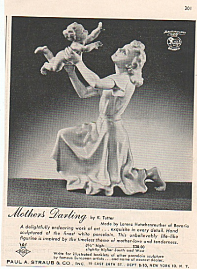 Mother's Darling - white porcelain ad 1956 (Image1)