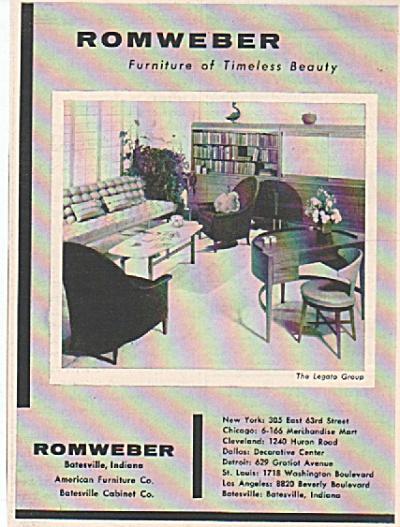 Romweber furnitdure ad 1956 (Image1)