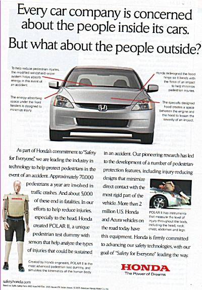Honda automobile ad 2005 (Image1)