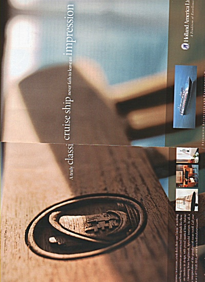 Holland America Line ad 2005 (Image1)