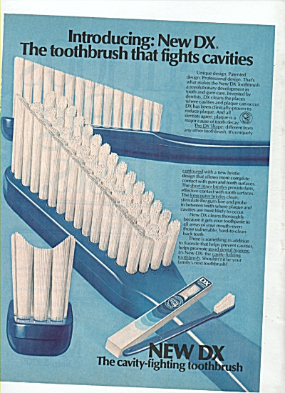 New DX toothbrush ad 1981 (Image1)