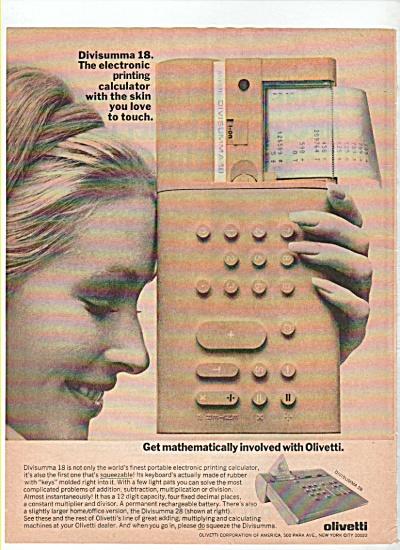 Olivetti Divisumma 18 calculator ad 1974 (Image1)