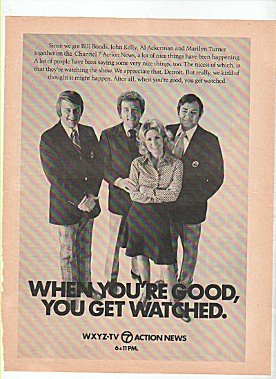 WXYZ-TV  news  commentators ad 1974 (Image1)