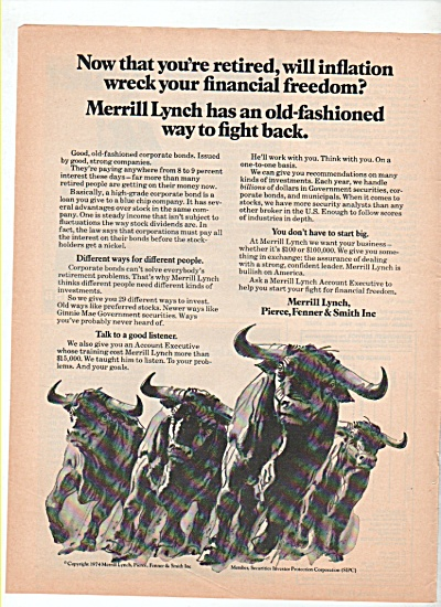 Merrill Lynch, Pierce, Fenner & Smith ad 1974 (Image1)
