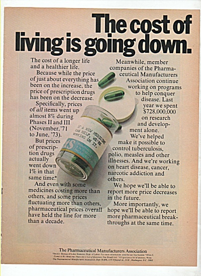 The Pharmaceutical manufacturers association ad 1974 (Image1)
